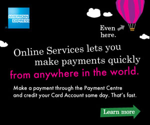 Online Services lets you make payments quickly from anywhere in the world. Learn more.
